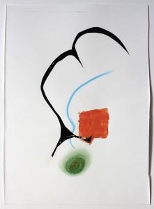 Collage en gemengde techniek op papier - 25x35 cm