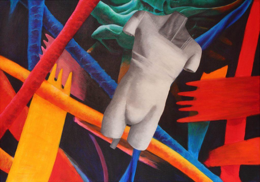 Drizzle - 70 x 100 cm - acryl op doek