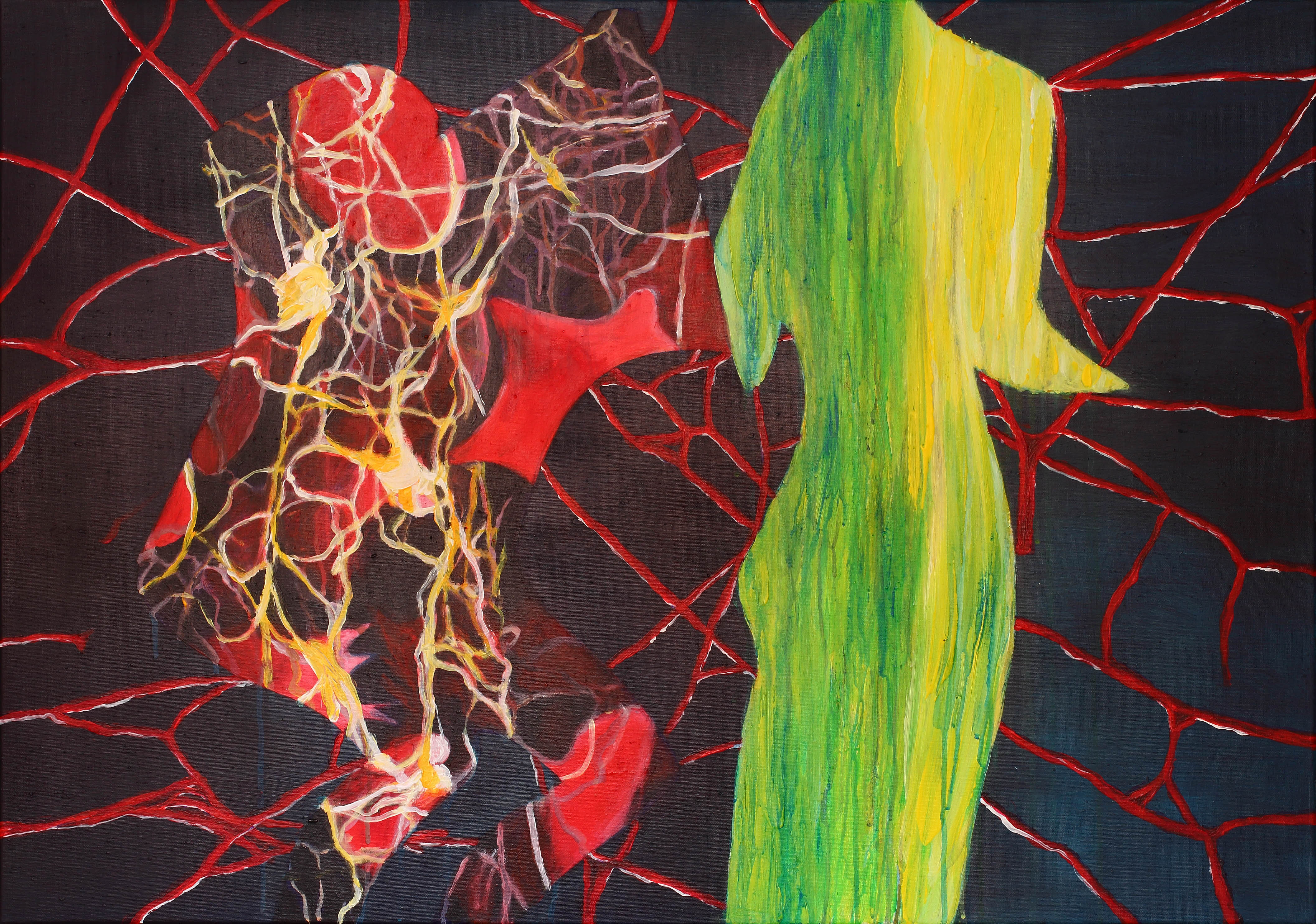 Ellbow room - 70 x 100 cm - acryl op doek
