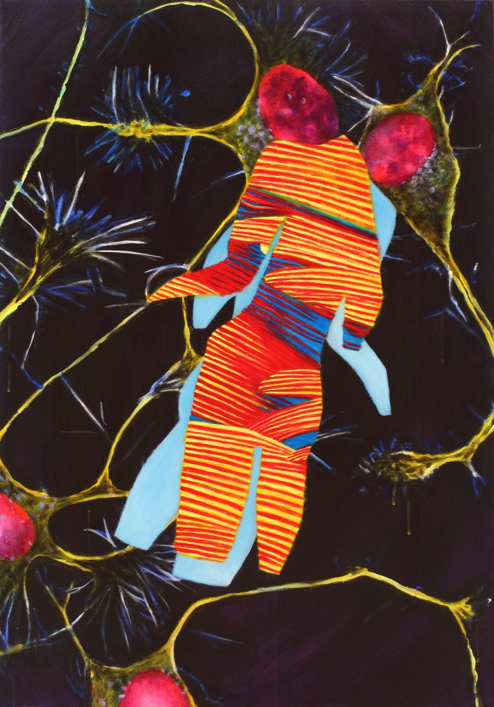 Neuralgia - 100 x 70 cm - acryl op doek