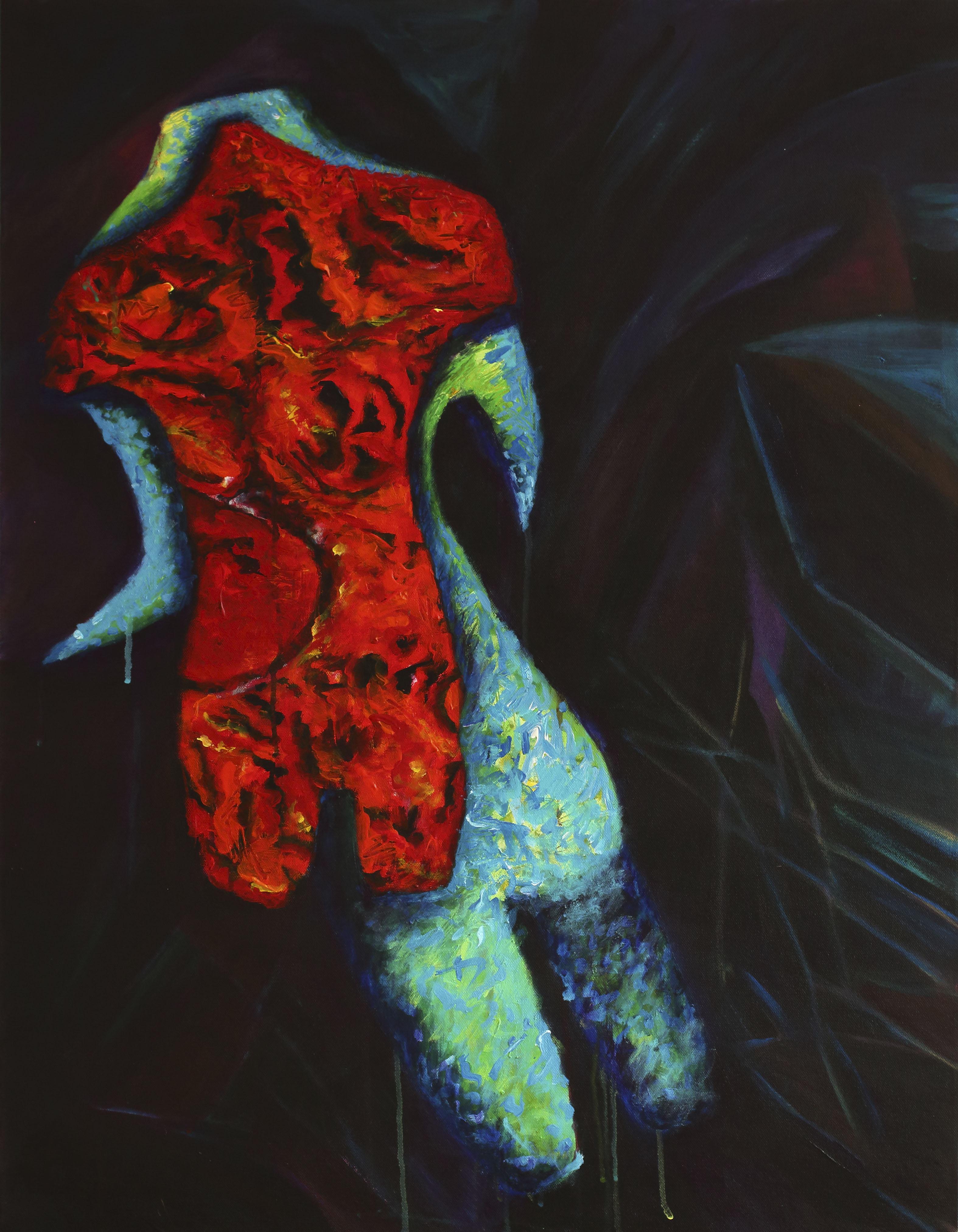 Nocturne - 70 x 90 cm - acryl op doek