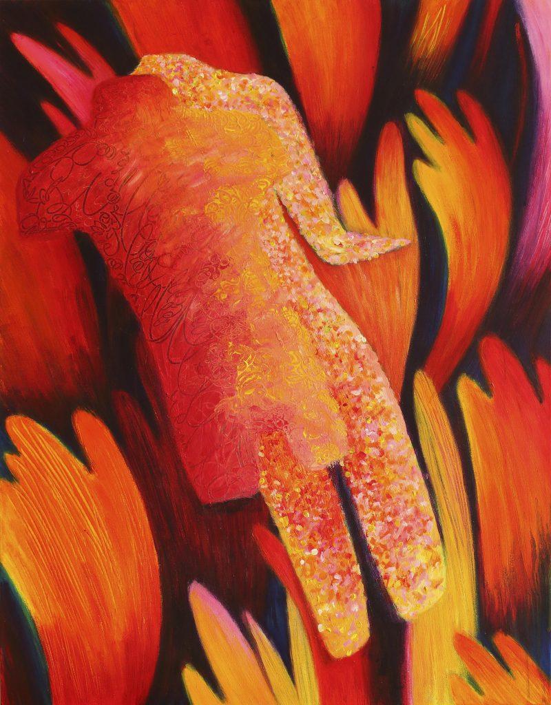 Papilionaceous - 70 x 90 cm - acryl op doek