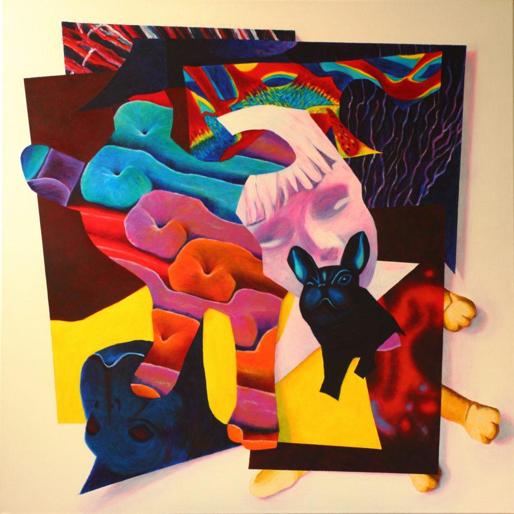 Eurydice - 100 x 100 cm