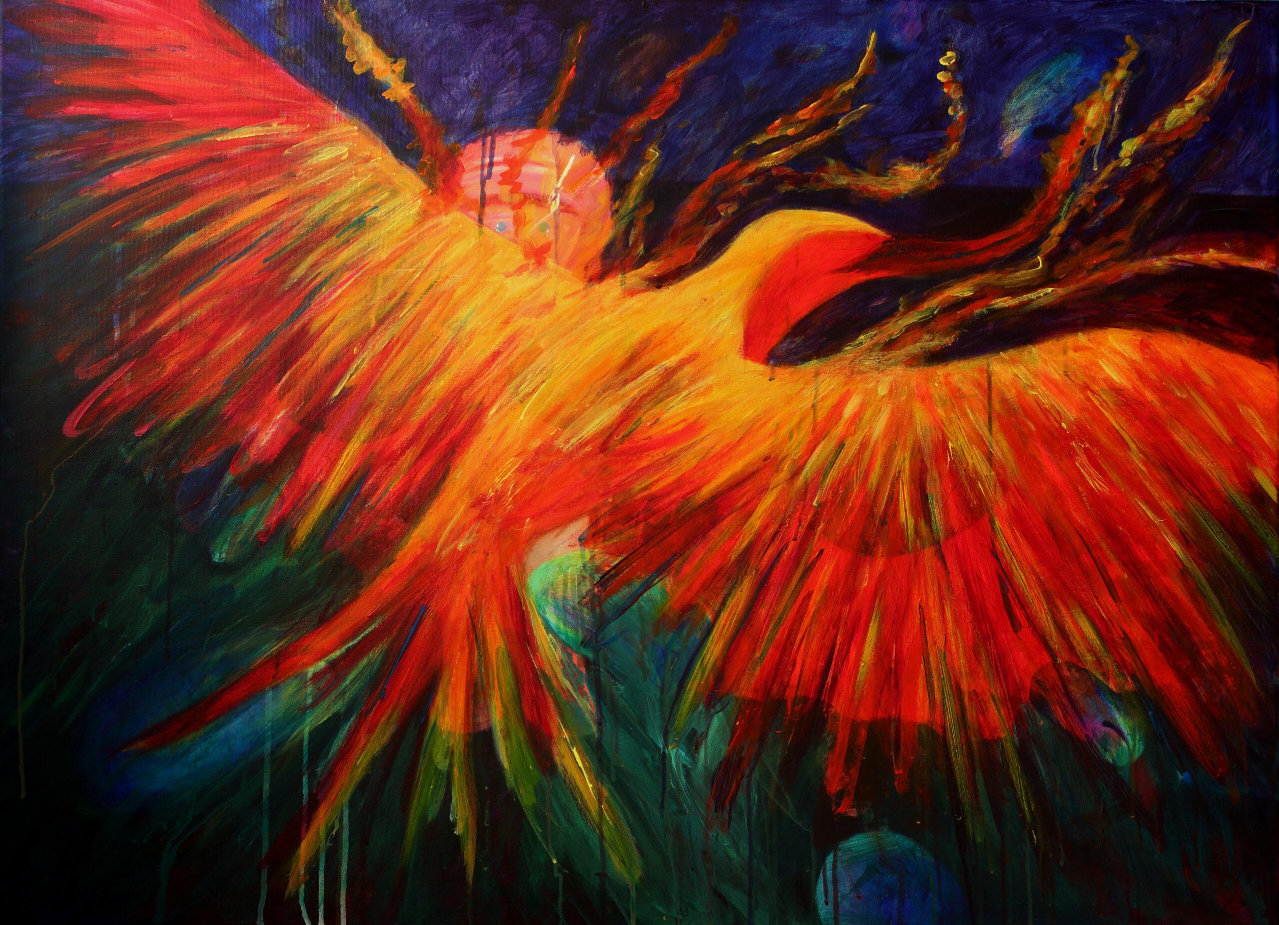 Phoenix - 80 x 110 cm